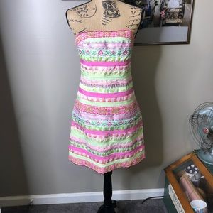 Vintage Lilly Pulitzer Ribbon Pattern Dress